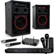 Karaokeanlage / Gesangsanlage mit 2 Funkmikrofonen