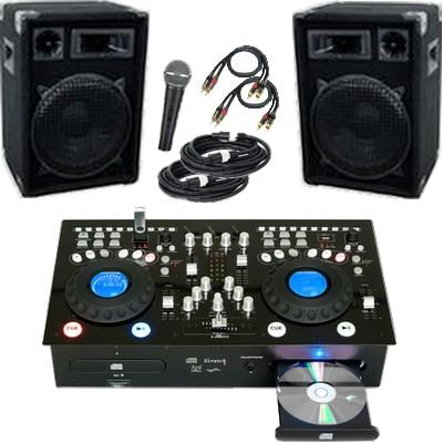 dj anlage pa anlage 1200 watt mit mp3 doppel cd player. Black Bedroom Furniture Sets. Home Design Ideas