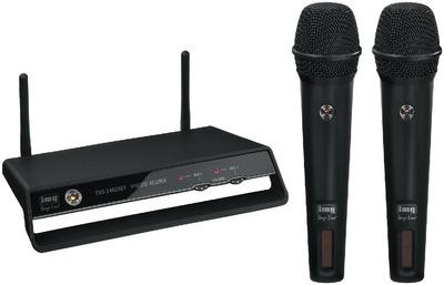 IMG Stage Line TXS-2402SET GHz-Funkmikrofonanlage mit 2x Funkmikrofon