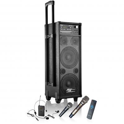 transportabler lautsprecher mss 400i mit akku funkmikrofon funkheadset cd mp3 dvd. Black Bedroom Furniture Sets. Home Design Ideas