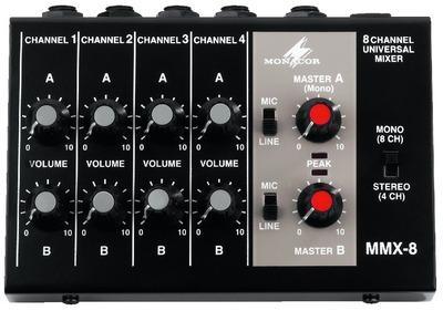 IMG Stage Line MMX-8 Miniatur Mikrofon-Mischer / Mixer