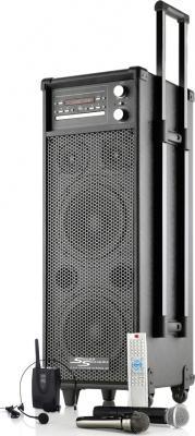 Mobile Musikanlage / Beschallungsanlage MSS-400i mit Akku / Funkmikrofon / Funkheadset / CD / MP3 / DVD / USB / Radio