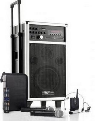Mobile Musikanlage / Beschallungsanlage MSS-500 mit Akku / Funkmikrofon / Funkheadset / CD / MP3 / USB / SD