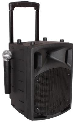 Mobile Musikanlage / Mobile Beschallungsanlage MSS-180 mit Akku / Funkmikrofon / Funkheadset / Bluetooth / CD / MP3 / USB