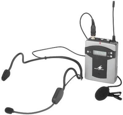 Monacor TXA-800HSE Taschensender / Headset für TXA-800-Serie