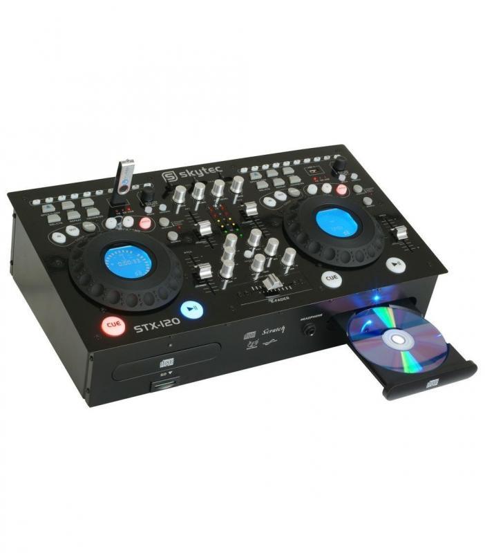 MP3 Doppel-CD-Player STX-120 mit eingebautem Mischpult, Verstärker und USB