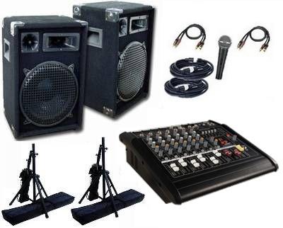 Musikanlage / PA-Anlage 1200 mit Powermixer