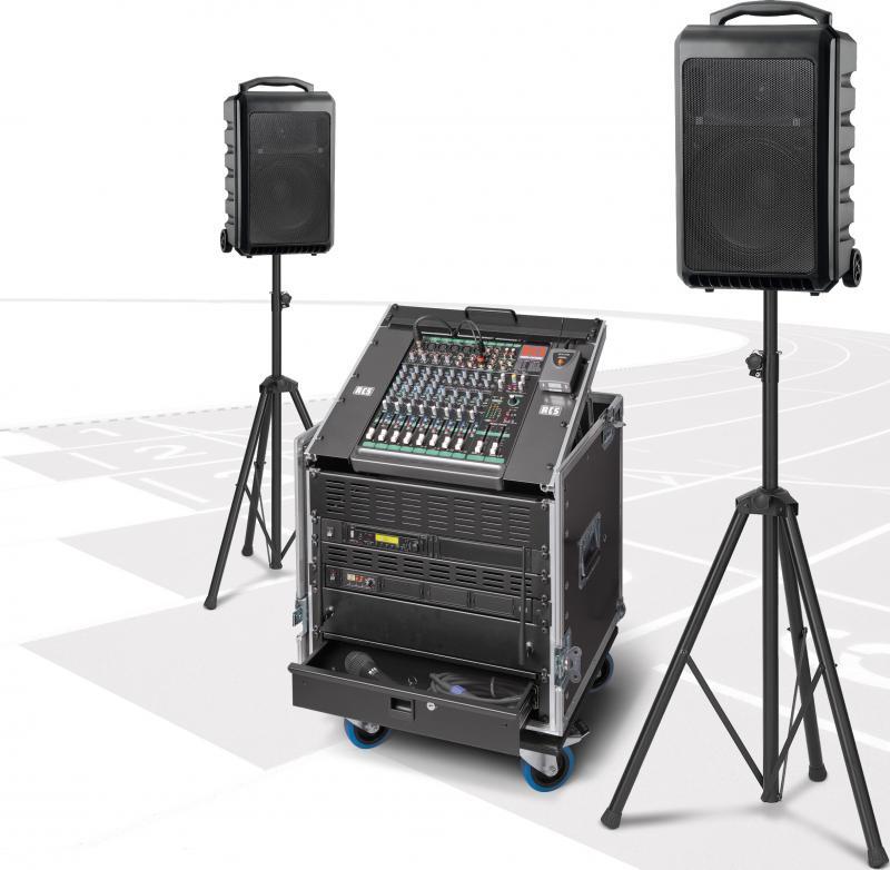 Musikanlage / Soundanlage PCS-600W kabellos mit zwei Akku-Funklautsprecher