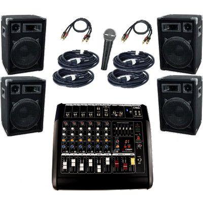 Musikanlage / PA-Anlage / PA-System 2400 mit Powermixer