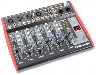 Power Dynamics PDM-L605 6-Kanal Mischpult mit MP3-Player und DSP