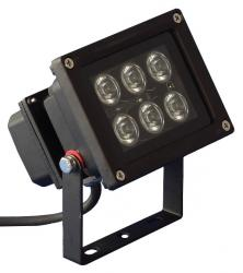 PTL - LED Outdoor Spot 6 x 1W warm weiss LED Outdoor Spot