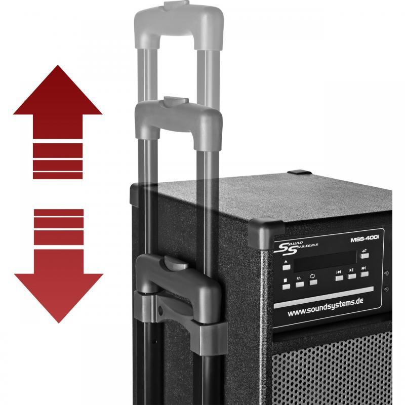 tragbare anlage mss 400i mit akku funkmikrofon funkheadset cd mp3 dvd usb radio. Black Bedroom Furniture Sets. Home Design Ideas